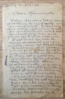 HENRI DABADIE PEINTRE LETTRE AUTOGRAPHE PARIS 31 AOUT 1946 - Autographes