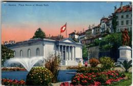 51gf 924 CPA - GENEVE - PLACE NEUVE ET MUSEE RATH - GE Ginevra
