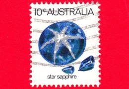 AUSTRALIA ~  Usato ~ 1974 - Animali Marini E Minerali - Stella Di Zaffiro - Star Sapphire - 10 - 1966-79 Elizabeth II