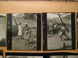32 PROVINI FOTO SU FOGLIO 1951 PIAMPALUDO DA VEDERE BOCCE MUCCHE E ALTRO - Places