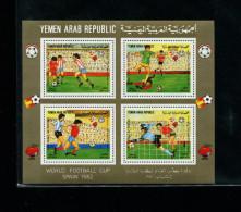 Yemen (AR)1982 Soccer/Football World Cup Michel BL 226-8 Set Of Souvenir Sheets Triangle Very Rare !!!! - Jemen