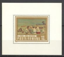 Rumänien Block 109 ** Postfrisch Gemälde - Blocs-feuillets