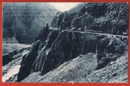 GEORGIE- La Vallée Terok Prés De La Station De KABEK - Convoi Camions - Voyagée 1908- Timbres-Recto Verso-Paypal Free - Géorgie