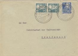 SBZ 2x215,216 Auf Brief Sonderstempel Zingst 25.8.49 - Soviet Zone