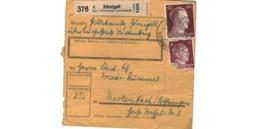Allemagne  - Colis Postal  Départ Zörnigall über Wittenberg Lutherstadt - Allemagne