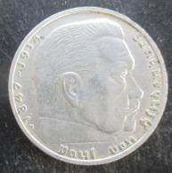 ALLEMAGNE 2 Reichsmark Aigle Surmontant Une Swastika / Maréchal Paul Von Hindenburg 1938  B (Vienne), SUP - 2 Reichsmark