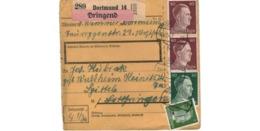 Allemagne  - Colis Postal  Départ Dortmund  - Pour Waldheim   -     28-12-42 - Alemania