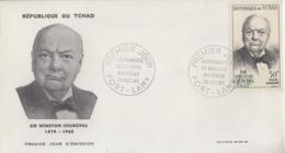 Enveloppe  FDC  1er  Jour   TCHAD    Sir   Winston  CHURCHILL    1965 - Sir Winston Churchill