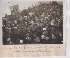 GRÈVE DES CHAUFFEURS TAXIS REUNION  MAISON COMMUNE DE LEVALLOIS  18*13CM Maurice-Louis BRANGER PARÍS (1874-1950) - Coches