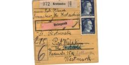 Allemagne  - Colis Postal  Départ Krotoschin  - Pour Waldheim - Briefe U. Dokumente