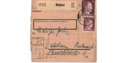 Allemagne  - Colis Postal  Départ Waldshut  - Pour Waldheim   -  2-1-43 - Alemania