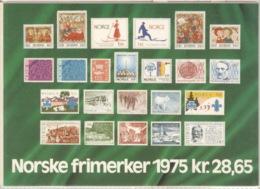 Norwegen Jahrgang 1975 Komplett Im Versandheft Der Postverwaltung ** Postfrisch - Ganze Jahrgänge