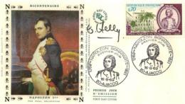 FDC 1er Jour :Napoléon Bonaparte 16/08/1969 N° 1610 Signé  Claude HALEY - 1960-1969