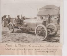 CIRCUIT DE DIEPPE LE CONDUCTEUR COLLINET VOITURE GREGOIRE DOUVRANT HAMEL 18*13CM Maurice-Louis BRANGER PARÍS (1874-1950) - Coches
