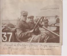 CIRCUIT DE DIEPPE CONDUCTEUR BRUCE BROWN VAINQUEUR 1ER JOURNEE  18*13CM Maurice-Louis BRANGER PARÍS (1874-1950) - Automobiles