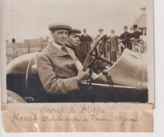 CIRCUIT DE DIEPPE CONDUCTEUR HANCOCK 2EME COUPE DE L'AUTO  18*13CM Maurice-Louis BRANGER PARÍS (1874-1950) - Coches