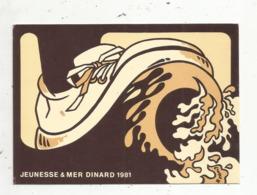 Cp, Bourses& Salons , JEUNESSE & MER ,DINARD ,1981,illustrateur , Signée,écrite,tirage 500 Exemplaires , Ed Siméone - Bourses & Salons De Collections