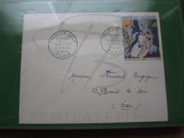 VEND TIMBRE DE FRANCE N° 1398 SUR LETTRE 1° JOUR !!! - Briefe U. Dokumente