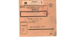 Allemagne  - Colis Postal  Départ Stuttgart   -  6-2-43 - Allemagne