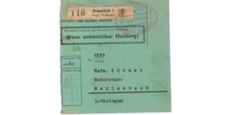 Allemagne  - Colis Postal  Départ Remscheid  ( Hugo Grossbach )    -  5-2-43 - Allemagne