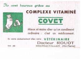 BUVARD : COMPLEXE VITAMINE COVET - DOCTEUR ROUOT à CHATEAUVILLAIN (Haute Marne) VETERINAIRE - Produits Pharmaceutiques