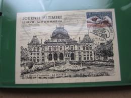 """VEND TIMBRE DE FRANCE N° 1477 SUR CARTE """" LE HAVRE D'AUTREFOIS """" + VIGNETTE !!! - Briefe U. Dokumente"""