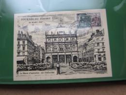 """VEND TIMBRE DE FRANCE N° 1589 SUR CARTE """" LE HAVRE D'AUTREFOIS """" + VIGNETTE !!! - Briefe U. Dokumente"""