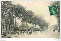 93. PANTIN . La Route D'Aubervilliers . CPA Animée . - Pantin