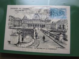 """VEND TIMBRE DE FRANCE N° 1749 SUR CARTE """" LE HAVRE D'AUTREFOIS """" !!! - Briefe U. Dokumente"""