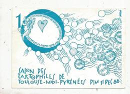 Cp, Bourses& Salons De Collections, Salon Des Cartophiles De Toulouse-Midi-Pyrénées,1988,illustrateur SAMSON - Bourses & Salons De Collections