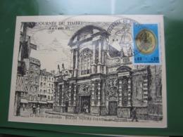 """VEND TIMBRE DE FRANCE N° 1838 SUR CARTE """" LE HAVRE D'AUTREFOIS """" !!! - Francia"""