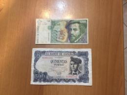 SPAIN    2   BILLETS   LOT - [ 4] 1975-… : Juan Carlos I