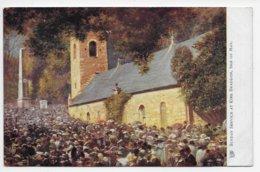 Sunday Service At Kirk Braddan - Tuck Oilette 1780 - Isle Of Man