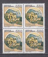 PGL DF736 - ITALIA REPUBBLICA 1984 SASSONE N°1522A ** QUARTINA CASTELLI - 6. 1946-.. Repubblica