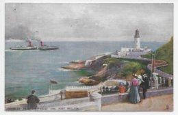 Douglas Head Lighthouse And Port Skillion - Tuck Oilette 1780 - Isle Of Man
