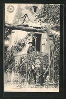 CPA Rotheneuf, L`Ermite Chez Lui, Einsiedler - Rotheneuf