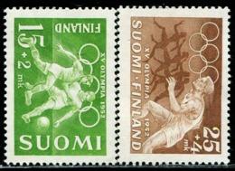 AT4212 Finland 1952 Summer Olympics Host Country Football, Etc. 2V MNH - Sommer 1952: Helsinki