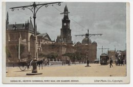 Sydney - George Street, Showing Cathedral, Town Hall And Markets - Sydney