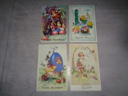 Beau Lot De 60 Cartes Postales De Fantaisie  Pâques    Mooi Lot Van 60 Postkaarten Fantasie  Pasen  - 60 Scans - Cartes Postales