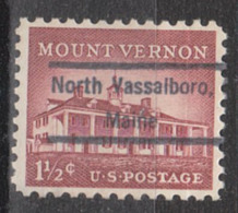 USA Precancel Vorausentwertung Preo, Locals Maine, North Vassalboro 809 - Vereinigte Staaten