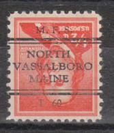 USA Precancel Vorausentwertung Preo, Locals Maine, North Vassalboro L-1 TS - Vereinigte Staaten