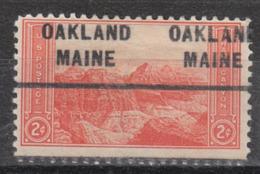 USA Precancel Vorausentwertung Preo, Locals Maine, Oakland 712 - Vereinigte Staaten