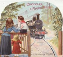 """CHROMOS à Système """" Chocolat D'Aiguebelle """"  L'arrivée Du Train ** - Aiguebelle"""