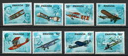Rwanda ** N° 850 à 857 - Histoire De L'aviation - - 1970-79: Ungebraucht