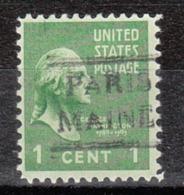 USA Precancel Vorausentwertung Preo, Locals Maine, Paris 490 - Vereinigte Staaten