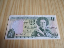 Jersey.Billet One Pound Elizabeth II. - Jersey