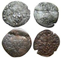 FRANCE - Lot 4 Monnaies Argent Ou Billon - 1483-1498 Charles VIII. L'Affable