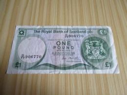 Ecosse.Billet 1 Livre Sterling 17/12/1986. - Ecosse