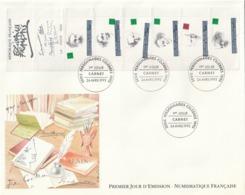 Rare Enveloppe Premier Jour Grand Format Serie Personnages Célèbres - FDC