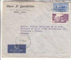 Liban - Lettre De 1951 ° - Oblit Beyrouth - - Liban